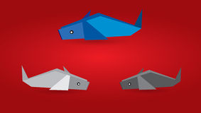 Origami Fishes Stock Photos