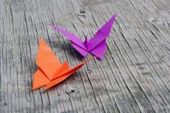 Origami fjärilar Arkivbild