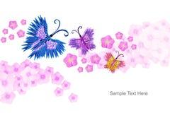 Origami fjärilar Royaltyfria Foton