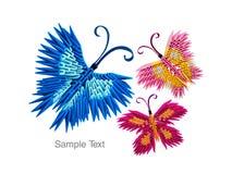 Origami fjärilar Arkivfoton