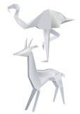 Origami_flamingo_roe Royalty Free Stock Image