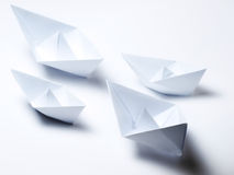 Origami fleet Royalty Free Stock Photo