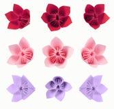 Flores de Origami Imágenes de archivo libres de regalías