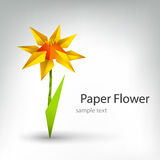 Origami flower Stock Image