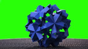 Origami Flower Ball On Green Screen Stock Video Footage