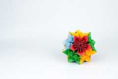 Origami flower. In multiple colors Stock Image