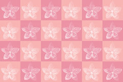 Origami flower. On pink background royalty free stock photos