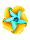 Origami flower propeller Stock Photos