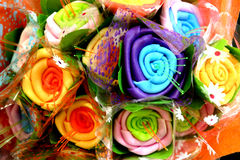 Origami of flowers Stock Photos