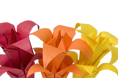 Origami flowers Royalty Free Stock Photos