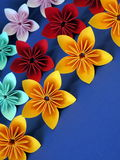 Origami flowers Stock Photo