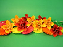 Origami flowers Stock Photo