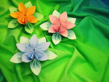 Origami flowers Royalty Free Stock Photo