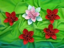 Origami flowers Stock Photos