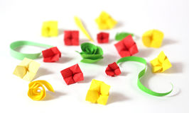 Origami flowers Royalty Free Stock Image