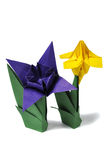 Origami flowers isolated over white Royalty Free Stock Photos