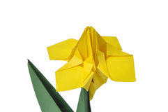 Origami flowers over white Stock Image