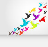 Origami flying Royalty Free Stock Photo