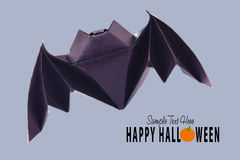 Origami flying bat Stock Photo