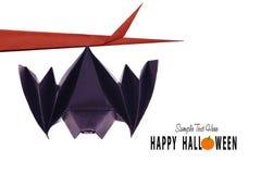 Origami flying bat Royalty Free Stock Images