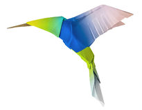 Origami flying hummingbird Stock Photos