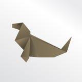 Origami foka obraz stock