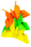 Origami folded paper insect Stock Image