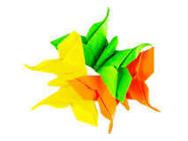 Origami folding paper art Stock Image