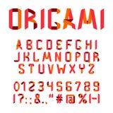 Origami font alphabet Stock Photography