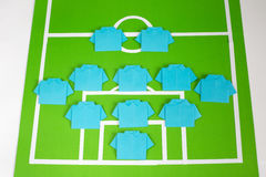 Origami football formation tactics Royalty Free Stock Photography
