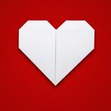 Origami formar pappers- hjärta Fotografering för Bildbyråer