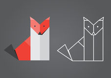 Origami Fox Royalty Free Stock Images
