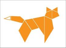 Origami fox Stock Photo