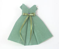 Origami frock Royalty Free Stock Images
