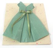 Origami frock Royalty Free Stock Image