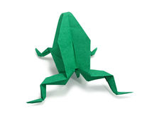 Origami frog Stock Photography