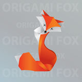 Origami Fuchs Stockfoto