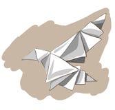 Origami geschilderde vogel Stock Fotografie