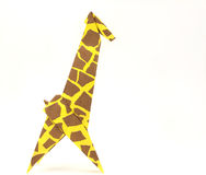 Origami giraffe Royalty Free Stock Images
