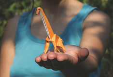 Origami giraffe stock images