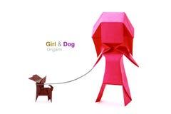 Origami girl Stock Image