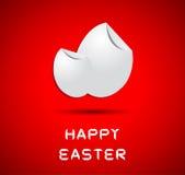 Origami glückliche Ostern Karte Lizenzfreie Stockfotografie