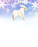 Origami Goat, New Year background . Vector illustration, eps10. Royalty Free Stock Images