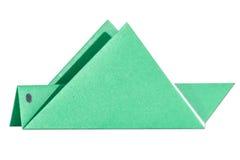An origami grasshopper over white Stock Photo