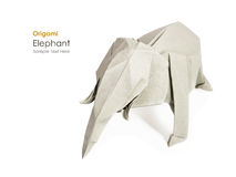 Origami gray elephant Stock Images