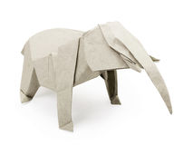 Origami gray elephant Royalty Free Stock Images