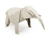 Origami gray elephant Royalty Free Stock Images