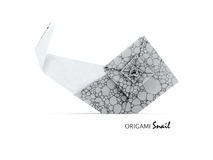 Origami gray snail Royalty Free Stock Photos