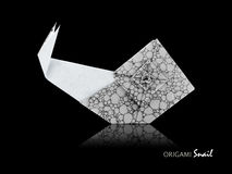 Origami gray snail Stock Images