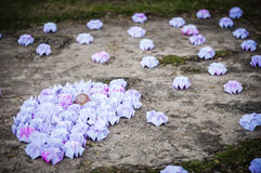 Origami on the ground Royalty Free Stock Photography